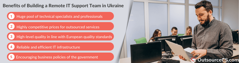 benefits of building remote tech support team in ukraine