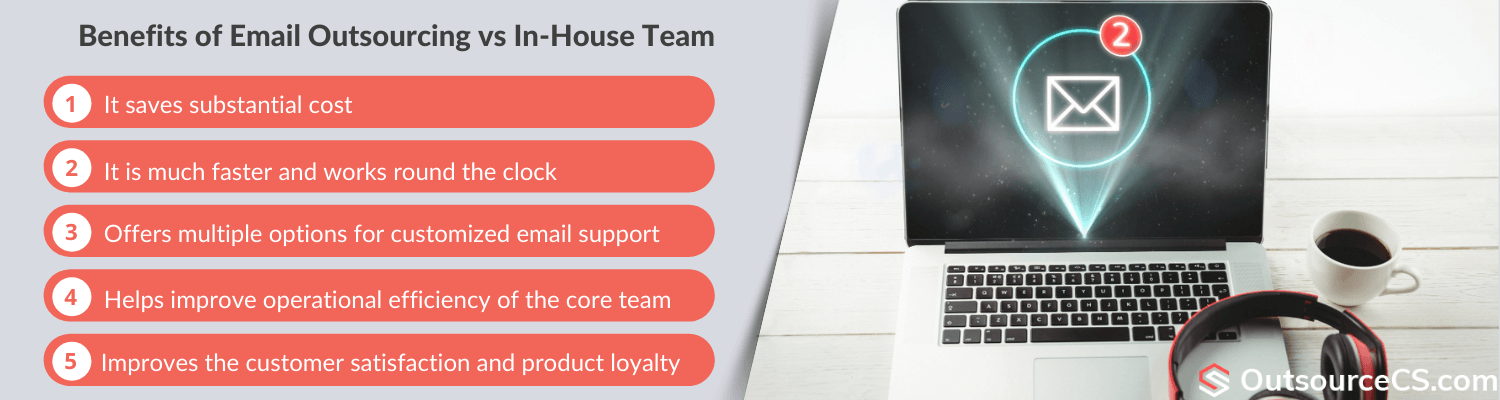 benefits of outsourced email support services