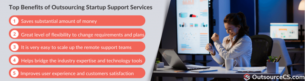 benefits of startup support services outsourcing