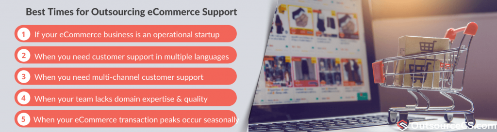 best times for ecommerce customer service outsourcing