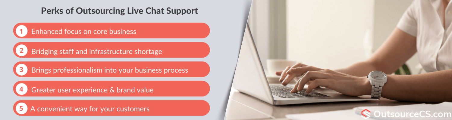 outsourcing live chat operators benefits