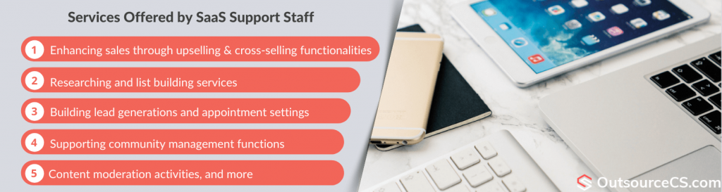 services offered by expert support saas