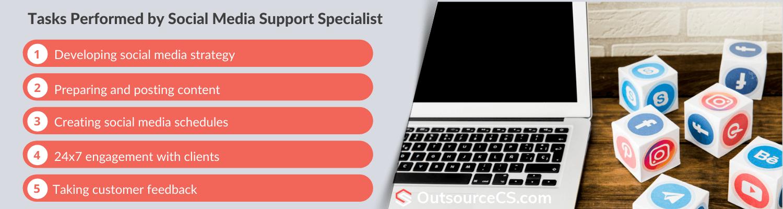 tasks performed by social media support specialist